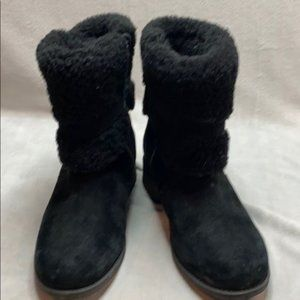 Women UGG Australia Blayre II Black Suede leather